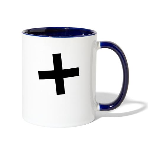 Plus Brandmark Black - Contrast Coffee Mug