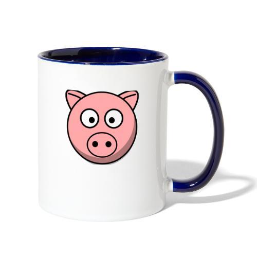 Piggy Mask - Contrast Coffee Mug