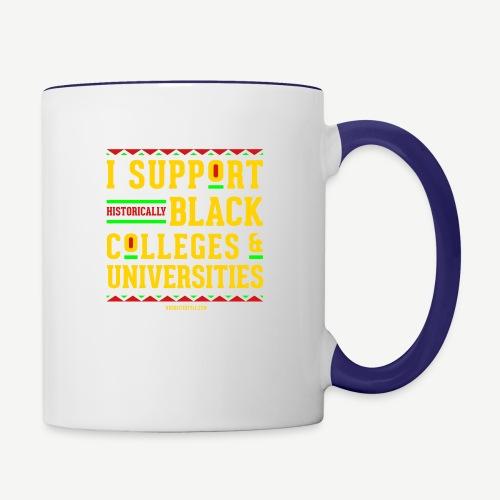 I Support HBCUs - Contrast Coffee Mug