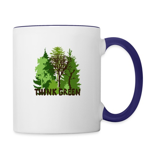 EARTHDAYCONTEST Earth Day Think Green forest trees - Contrast Coffee Mug