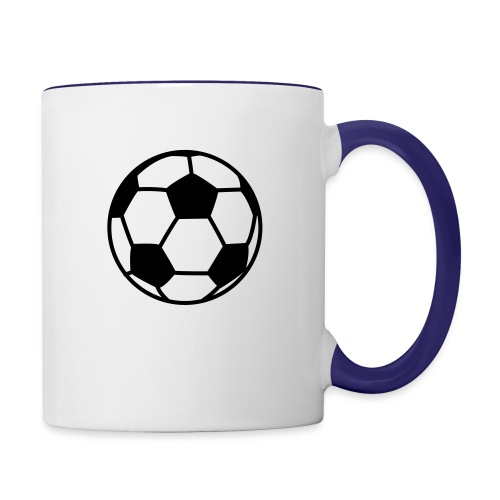 custom soccer ball team - Contrast Coffee Mug
