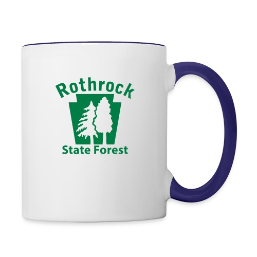 Rothrock State Forest Keystone (w/trees) - Contrast Coffee Mug