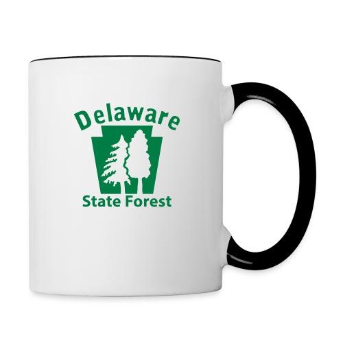 Delaware State Forest Keystone (w/trees) - Contrast Coffee Mug