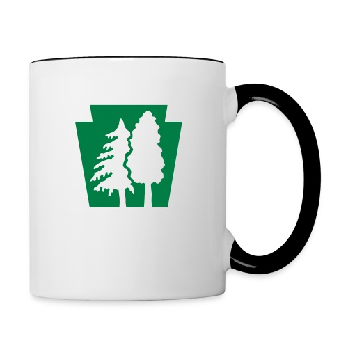 PA Keystone w/trees - Contrast Coffee Mug