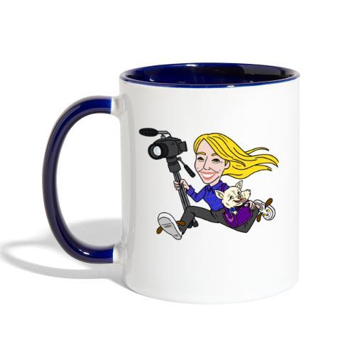 Jahnnalee and Gizmo the Chihuahua - Contrast Coffee Mug