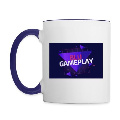 Retro Blu Gameplay Right handed - Contrast Coffee Mug