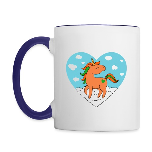 Unicorn Love - Contrast Coffee Mug
