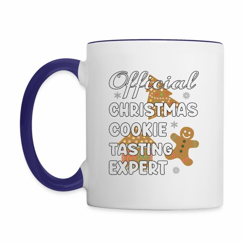 Funny Official Christmas Cookie Tasting Expert. - Contrast Coffee Mug