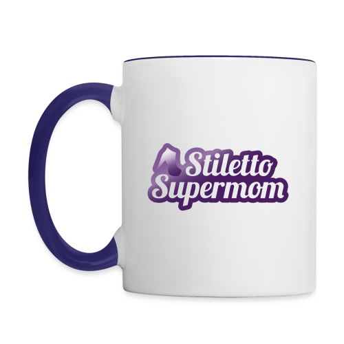 89256 Stiletto Supermom logo 01 PJ 4 png - Contrast Coffee Mug