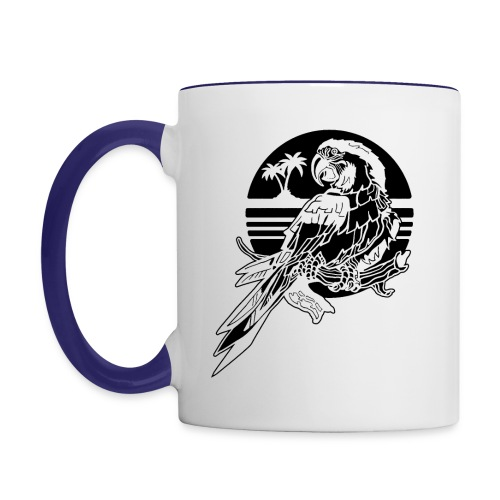 Tropical Parrot - Contrast Coffee Mug