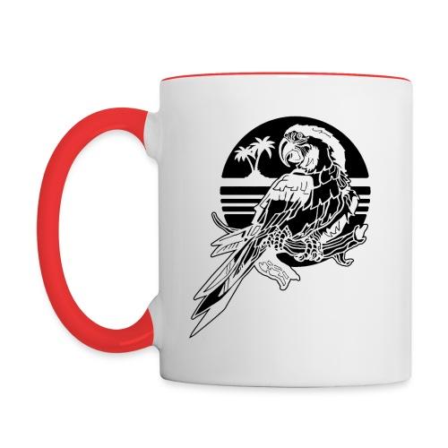 Tropical Parrot - Contrast Coffee Mug