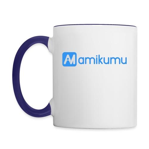 Amikumu Logo Blue - Contrast Coffee Mug