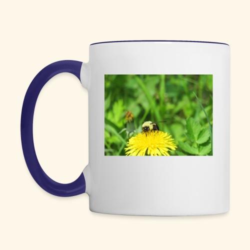 Dandelion Bee - Contrast Coffee Mug