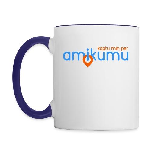 Kaptu min per Amikumu Blua - Contrast Coffee Mug
