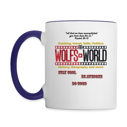 TheWolfsWorld Merch - Contrast Coffee Mug