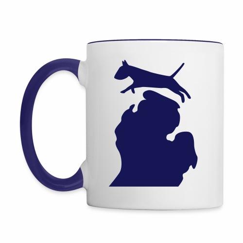 Bull terrier michigan shirt womens - Contrast Coffee Mug