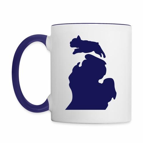 French Bulldog michigan womens shirt - Contrast Coffee Mug