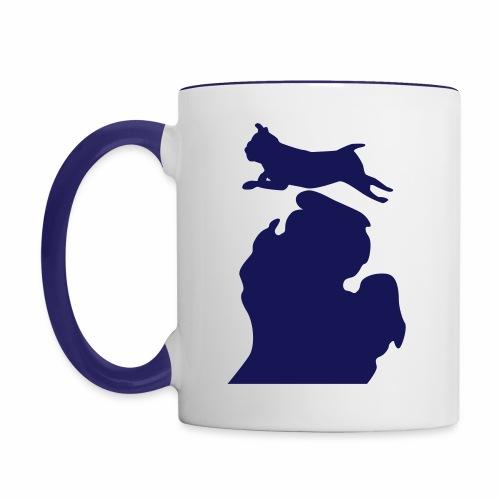 Pug Bark Michigan - Contrast Coffee Mug