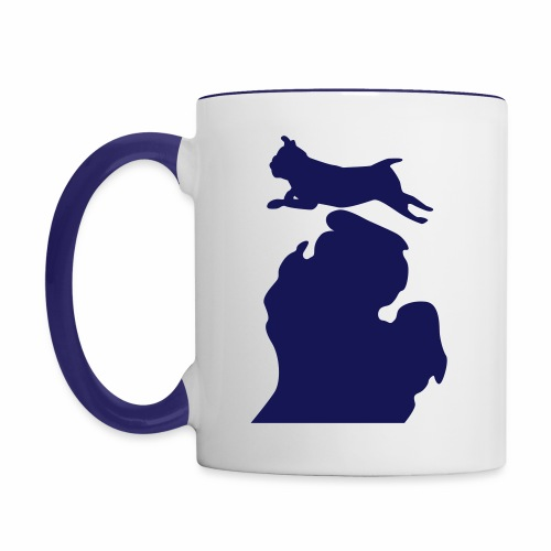 Pug Bark Michigan womens shirt - Contrast Coffee Mug