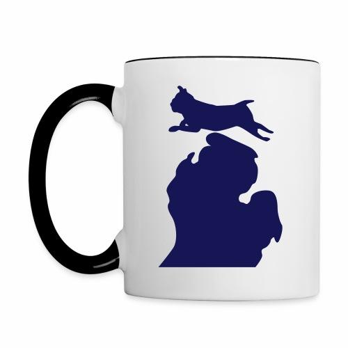 Pug Bark Michigan womens shirt - Contrast Coffee Mug