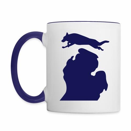 German Shepherd Michigan womens shirt - Contrast Coffee Mug