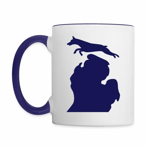 Doberman Bark Michigan Children's Shirt - Contrast Coffee Mug
