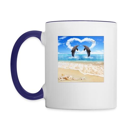 Dolphins - Contrast Coffee Mug