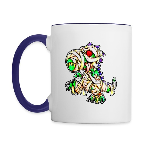 Halloween Mummy Trex - Contrast Coffee Mug