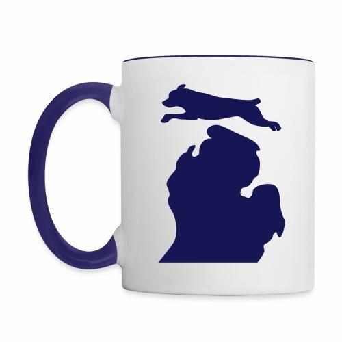 Rottweiler Bark Michigan Children's shirt - Contrast Coffee Mug