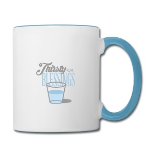 Thirsty For Blessings Graphic Tee - Contrast Coffee Mug