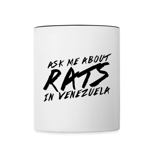 ask me about rats - Contrast Coffee Mug