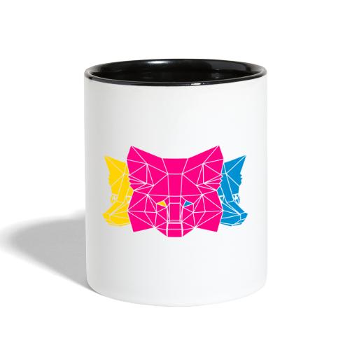 MetaMask Multi Colored Triple Head - Contrast Coffee Mug