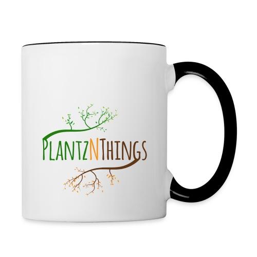 Get the Day Growing (Blue Mug) - Contrast Coffee Mug