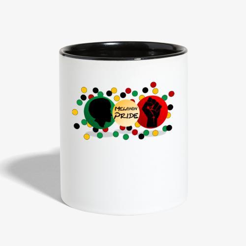 Melanin Pride Logo with dots - Contrast Coffee Mug