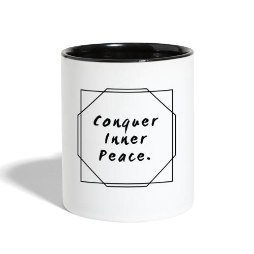 Conquer Inner Peace - Contrast Coffee Mug