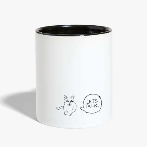 talk whit the cat - Contrast Coffee Mug