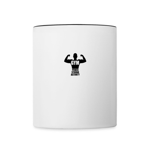 GYM POWER STRONG ACTIVITY - Contrast Coffee Mug