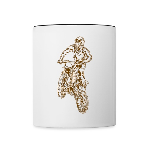 Motocross Dirt Bike Jump - Contrast Coffee Mug