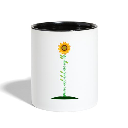 Mom And Dad Are My Life - Best Idea sunflower - Contrast Coffee Mug