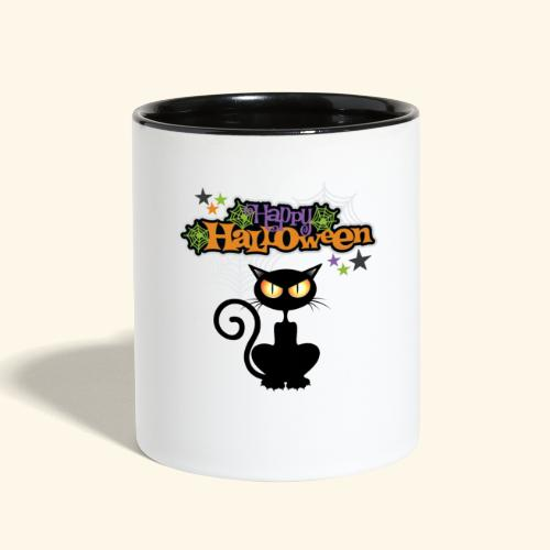 happy holloween BLACCK CAT TEE - Contrast Coffee Mug
