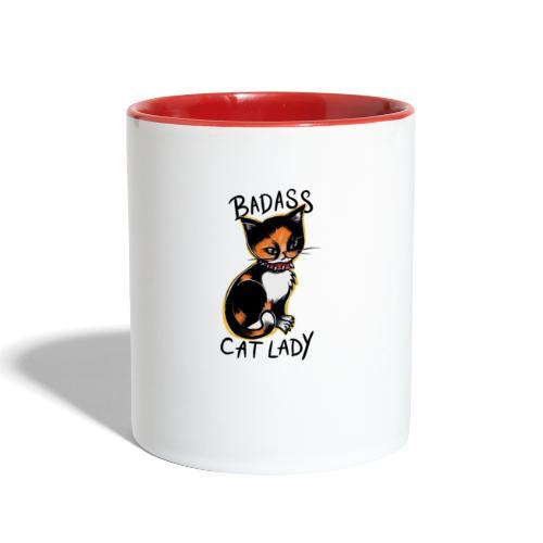 Badass cat lady - Contrast Coffee Mug