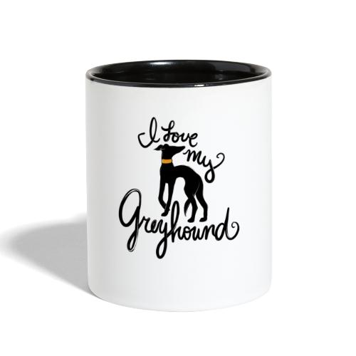 I love my greyhound - Contrast Coffee Mug