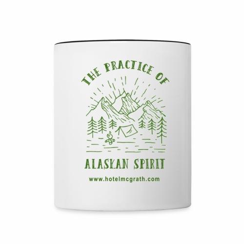Alaskan Spirit green - Contrast Coffee Mug