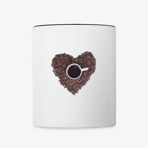 I Heart Coffee Black/White Mug - Contrast Coffee Mug