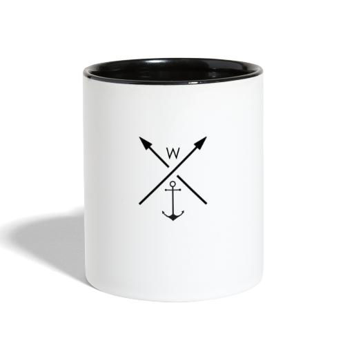 anchor - Contrast Coffee Mug