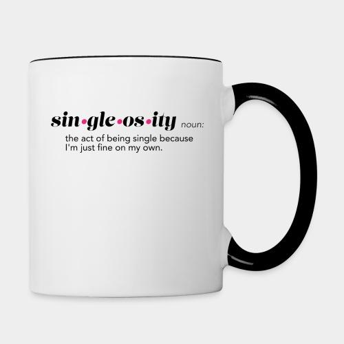 Single o sity White - Contrast Coffee Mug