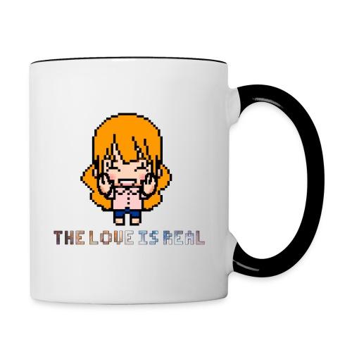 theloveisreal png - Contrast Coffee Mug