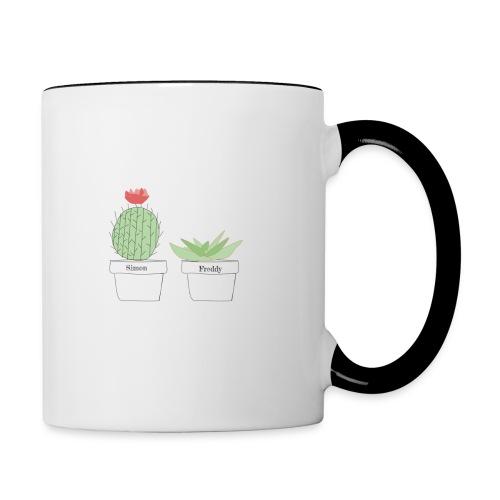 Simon and Freddy Cactuses - Contrast Coffee Mug