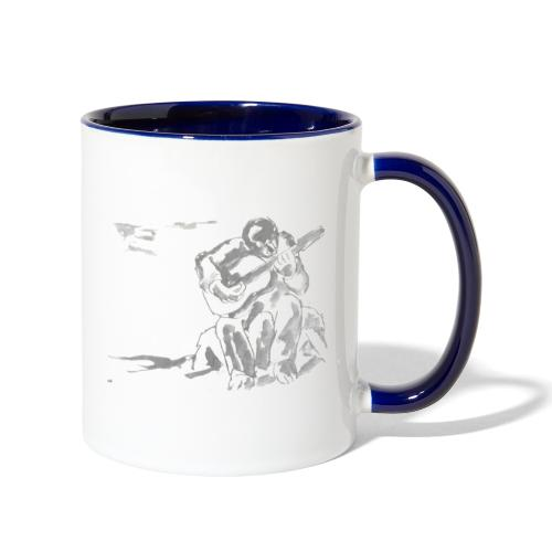 guitar player art no background - Contrast Coffee Mug