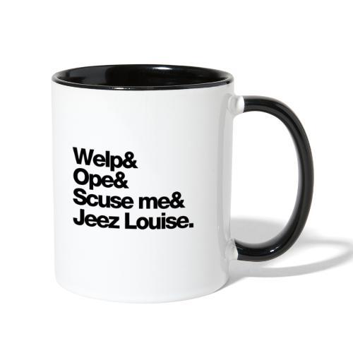 Midwest Series: Welp (Black) - Contrast Coffee Mug